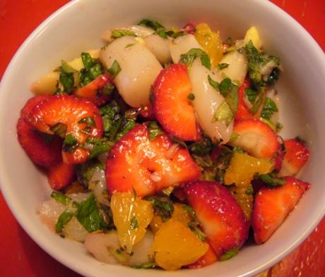 Spargel-Erdbeer Salat - Kochen für Schlampen