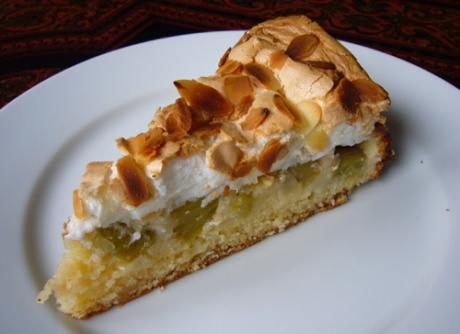 Rhabarber Baiser Kuchen - Kochen für Schlampen