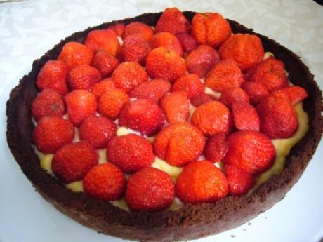 Schokolaten-Erdbeer-Lemon-Curd-Kuchen - Kochen für Schlampen