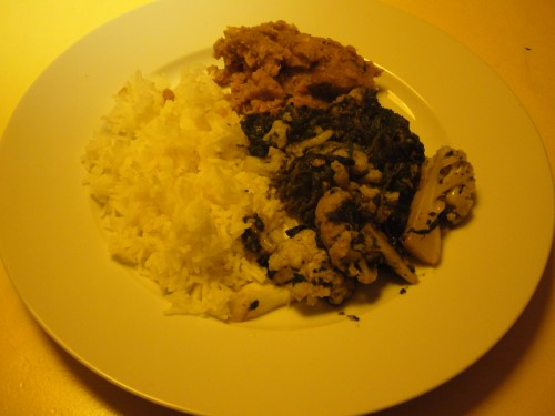 Blumenkohl-Spinat-Curry