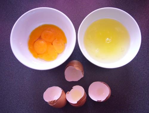 getrennte Eier