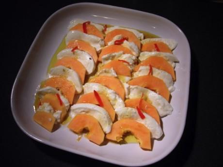 mozzarella-papaya