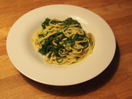 Spaghetti con Agretti - Kochen für Schlampen