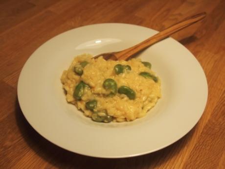 Fava Bohnen Zitronen-Risotto - Kochen für Schlampen
