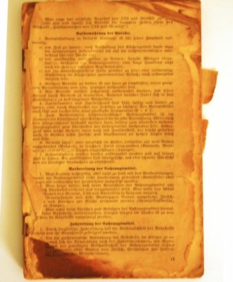 Dr. Oetker Schulkochbuch 1937 - Kochen für Schlampen