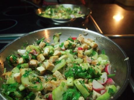 Kochen für Schlampen | Gurken-Tofupfanne